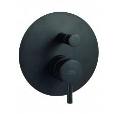 Light черен смесител за вграждане с разпределител